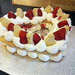 recette Symbol Cake cœur aux fraises