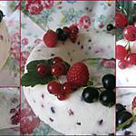 recette Couronne au fromage blanc et aux fruits rouges
