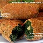 recette Croquettes d'épinards pois chiche et pignons de pin
