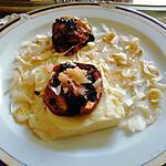 recette recette  purée  pommes  boudin
