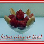 recette FRAISES CREME ET KIRSCH