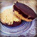 recette Bouchée flocons d'avoine caramel et chocolat