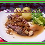 recette roti de boeuf sauce échalotte
