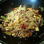 recette Nouilles de riz aux crevettes et légumes