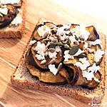 recette Toast d'aubergines marinées