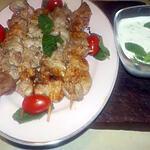recette Brochette d agneau à la grecque sauce au yaourt