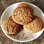 recette Biscuits croustillants aux flocons d'avoine et à la noix de coco