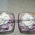 recette Fraises Kiwi gold au fromage blanc et chantilly