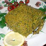 recette Dos de cabillaud croute de pistache