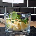 recette Salade de pommes de terre primeurs et sauce tartare.