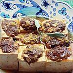 recette Tofu incrusté de porc haché à la sauce d'orange