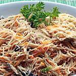 recette Vermicelles de riz sautés