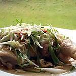 recette Poulet mijoté aux oignons verts