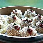 recette Perles de Riz gluant et porc haché à la vapeur