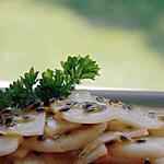 recette Radis noir mariné à la sauce aux fruits de la passion