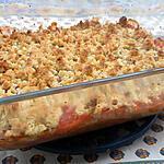 recette Crumble fraise rhubarbe