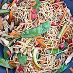 recette Nouilles chinoises sautées au wok