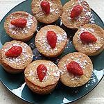 recette petits fondant amande fraises