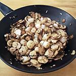 recette Noix de pétoncles aux champignons persillés