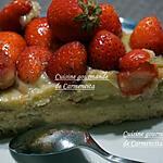 recette Tarte aux fraises à la crème d'amande et crème pâtissière