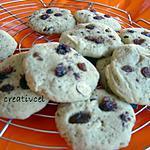 recette cookies exquis aux 4 épices/raisins/noisettes (prépa 10 mns) création papilles