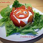 Charlotte aux tomates confites & macédoine de légumes