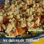 recette crumble de courgettes au saumon