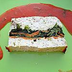 recette TERRINE DE POULET EPINARD CAROTTES ET SON COULIS DE TOMATE