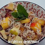 recette salade de riz au thon et fruits frais