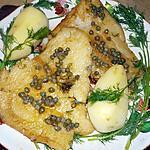 recette Filet de flétan beurre noisette aux capres