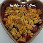 recette crumble fraises et rhubarbe