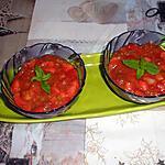 recette Verrine de rhubarbe fraise aux graines de chia et lait de coco