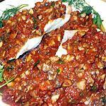 recette Filet de rascasse sauce tomate aux champignons