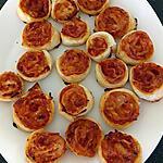 recette roulé feuilleté sauce tomate jambon blanc fumé