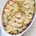 recette gratin de courgettes jaune au riz et viande haché