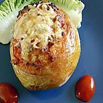 recette pommes de terre farcie au chorizo tomates
