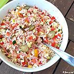 recette Salade de riz au bacon