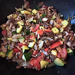 recette Poêlée kébab courgettes
