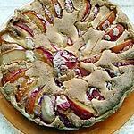 recette tarte au prunes rouge et créme a la noisette