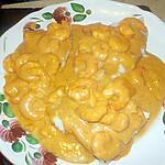 recette Filet de julienne au bisque de homard et aux crevettes