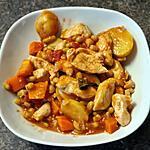 recette Ragoût de poulet et flageolets