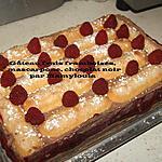recette Gâteau frais, Framboises, mascarpone, chocolat noir (ou blanc)