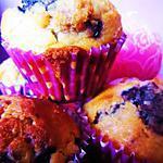 recette Muffins aux myrtilles et aux éclats de nougat