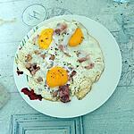 recette Œufs au plat et tranches de lard
