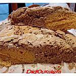 recette Le pain extra-terrestre (farines de pois chiche,de sarrazin,bise et graines de lin et de sésames, rien que ça!)