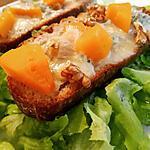 recette Tartines de Butternut et Gorgonzola