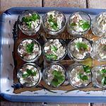 recette verrines ou cuillères apéritives au saumon