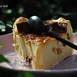 recette Flan pâtissier au rhum raisins .