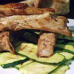 recette Poitrine d'agneau au cumin et courgette grillées...