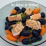 recette salade de melon, raisins et saumon